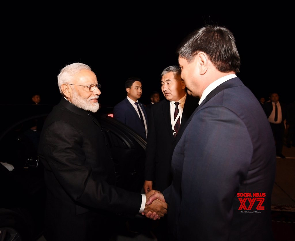 Bishkek: PM Modi emplanes for New Delhi #Gallery