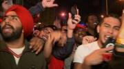 Huge Toronto crowd celebrates Raptors' win  (Video)