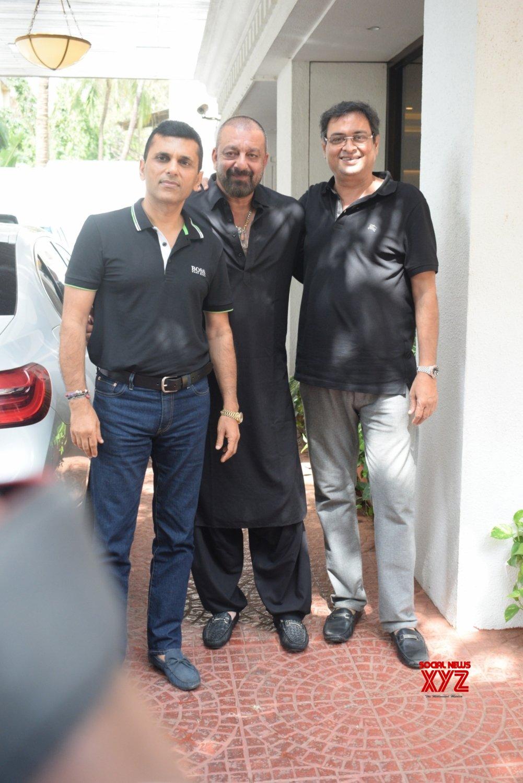 Mumbai: Sanjay Dutt, Arjun Kapoor, Patralekha seen at Anand Pandit's residence #Gallery
