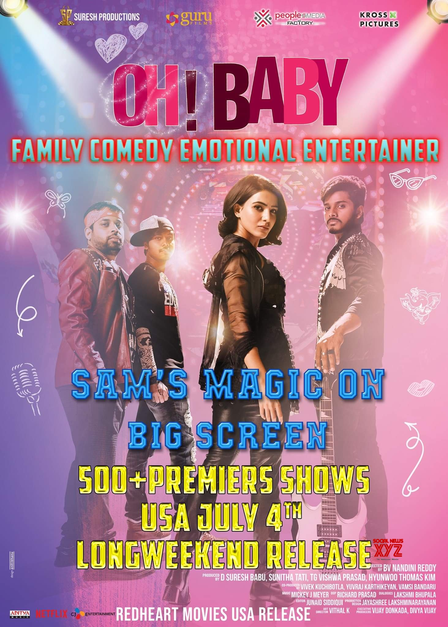 Oh Baby Movie To 500 Plus Premier Shows In The USA - Social News XYZ