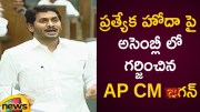 AP CM YS Jagan Stressed The Need Of Special Category Status To The State (Video)