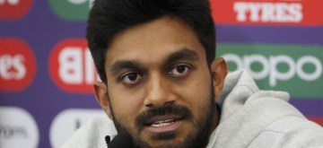 Southampton: India's Vijay Shankar addresses a press conference ahead of a World Cup 2019 match against Afghanistan at The Rose Bowl in Southampton, England on June 21, 2019. (Photo: Surjeet Yadav/IANS)