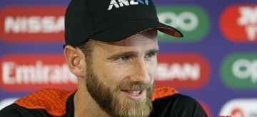 Manchester: New Zealand captain Kane Williamson addresses a press conference ahead of their World Cup 2019 semi-final match against India at Old Trafford in Manchester, England on July 8, 2019. (Photo: Surjeet Yadav/IANS)