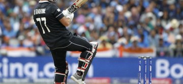 Manchester: New Zealand's Colin de Grandhomme in action during the 1st Semi-final match of 2019 World Cup between India and New Zealand at Old Trafford in Manchester, England on July 9, 2019. (Photo: Surjeet Kumar/IANS)