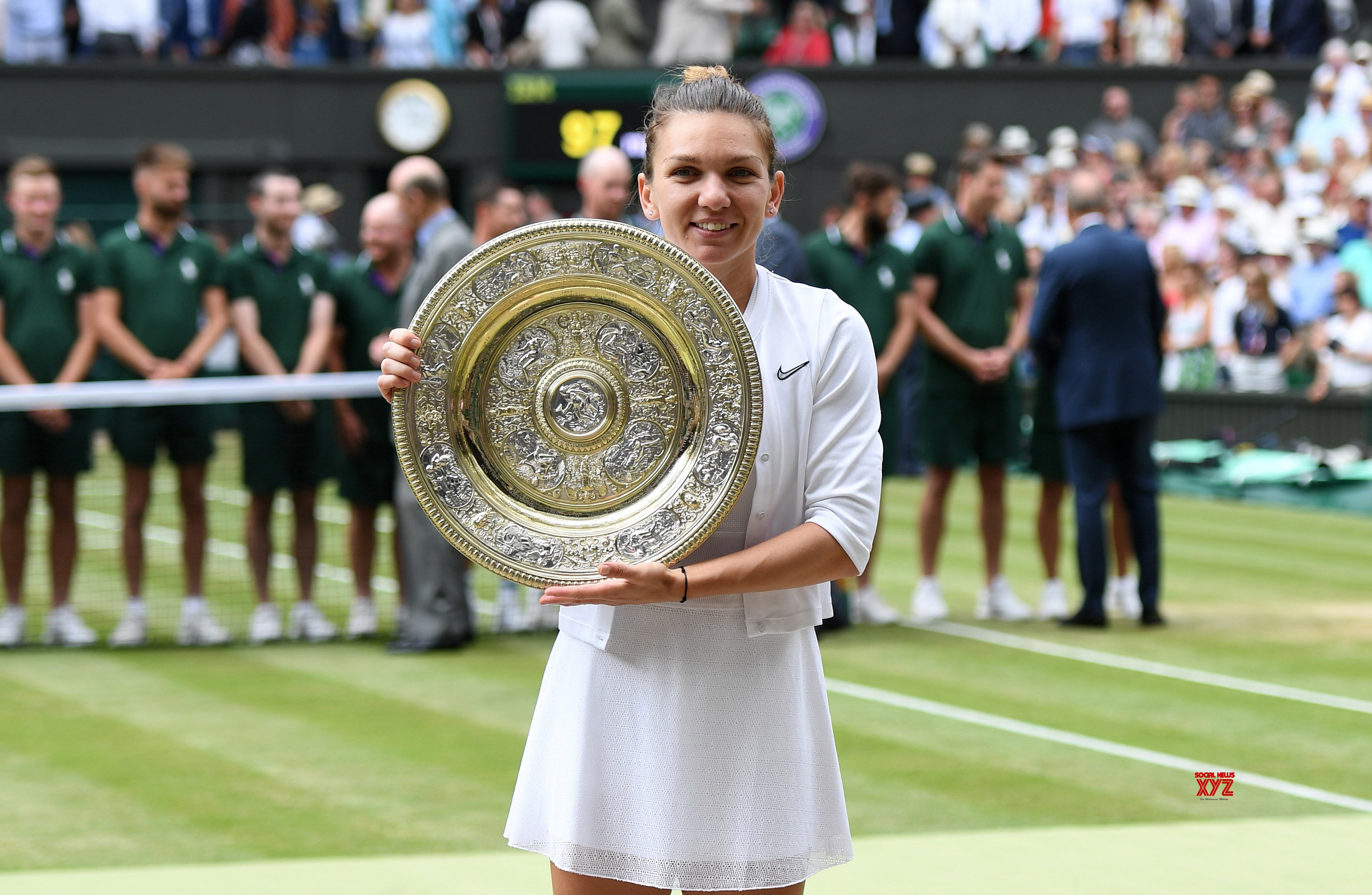 Halep crushes Serena to win maiden Wimbledon title
