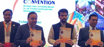 New Delhi: Union MoS Finance and Corporate Affairs Anurag Thakur at the 7th International Convention of Commodity Participants Association of India (CPAI) in New Delhi, on July 13, 2019. (Photo: IANS)