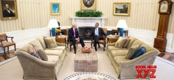 Washington: US President-elect Donald Trump meets US President Barack Obama at Oval Office of White House in Washington D.C.. (Photo Credit: White House/IANS)