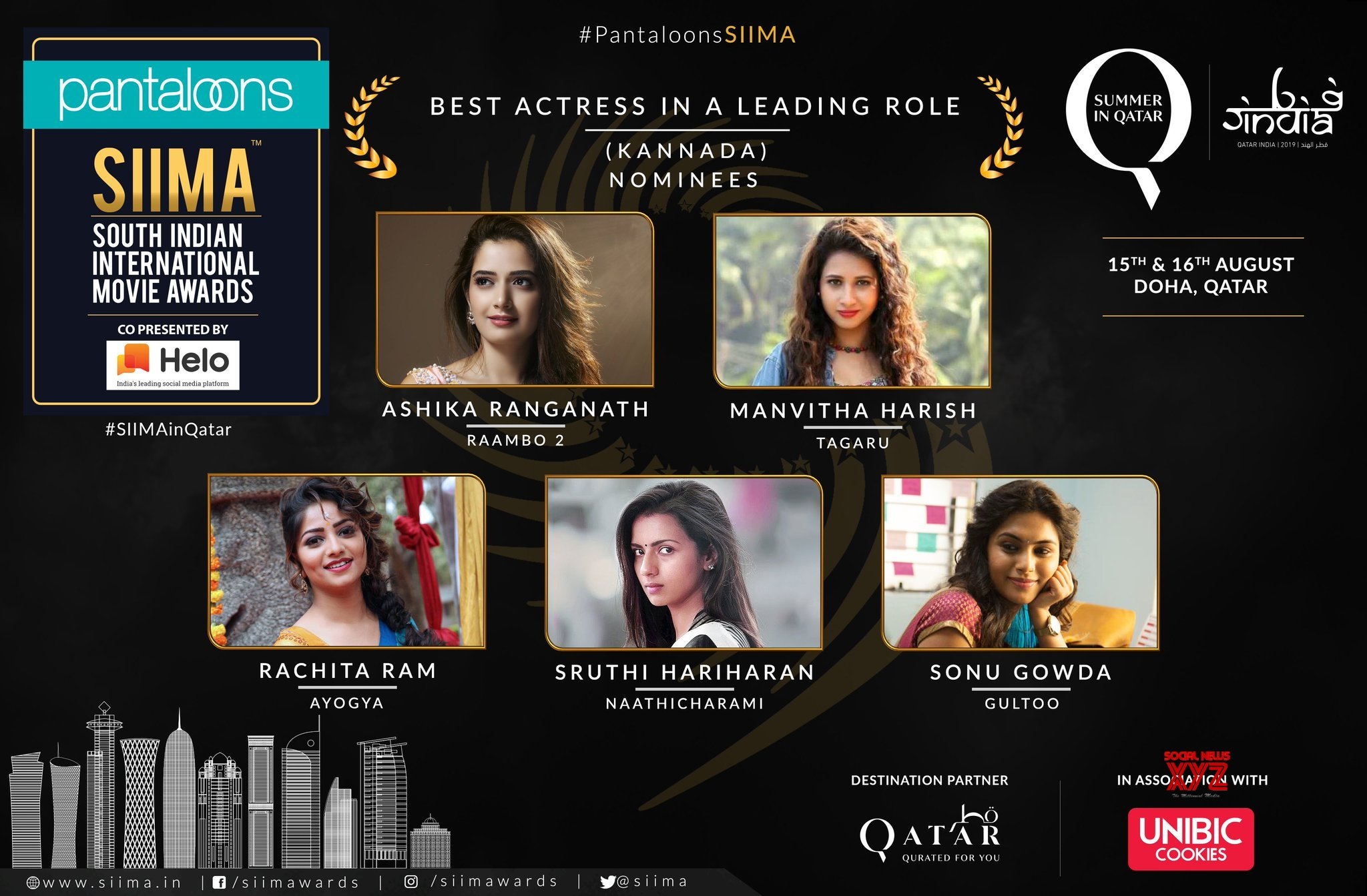 SIIMA 2019 Nominations For The Best Actress In A Leading