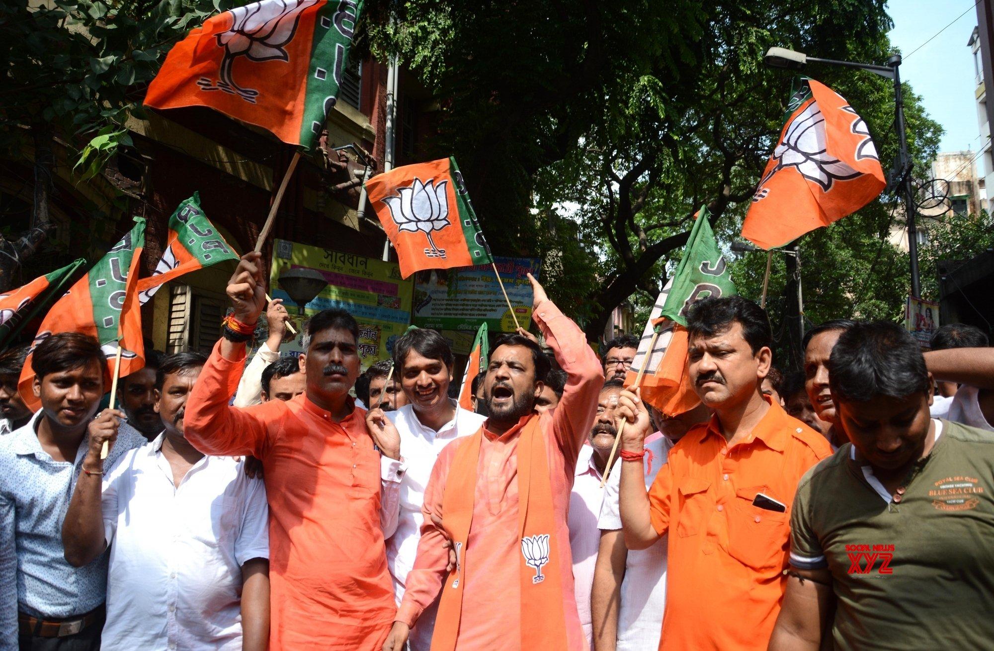 Kolkata: BJP workers demonstration against WB Govt  #Gallery