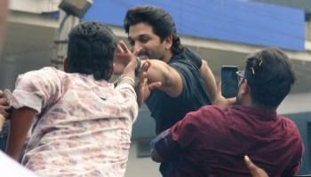 Allu Arjun Stills Kakinada Visit For AA19 Film Shoot