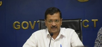 New Delhi: Delhi Chief Minister Arvind Kejriwal addresses a press conference in New Delhi on Aug 8, 2019. (Photo: IANS/AAP)