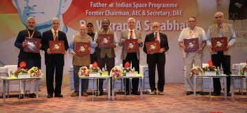 Ahmedabad: Indian Space Research Organisation (ISRO) Chairman Dr K Sivan during the inaugural function of Vikram A Sarabhai Centenary Programme at Gujarat University Convention Centre in Ahmedabad on Aug 12, 2019. (Photo: IANS/ISRO)