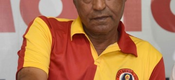 Kolkata: Former Iranian and Quess East Bengal FC legend footballer Majid Bishkar during a press conference regarding Quess East Bengal FC 100 years celebration programme in Kolkata on Aug 12, 2019. (Photo: IANS)