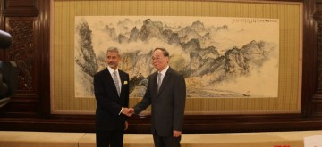Zhongnanhai: External Affairs Minister S Jaishankar meets Chinese Vice President Wang Qishan in Zhongnanhai, China on Aug 12, 2019. (Photo: IANS/MEA)
