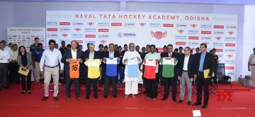 Bhubaneswar: Odisha Chief Minister Naveen Patnaik during the inauguration of the Naval Tata Hockey Academy (NTHA) at the Kalinga Stadium in Bhubaneswar on Aug 13, 2019. (Photo: IANS)