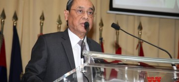 Hyderabad: Chief Justice of India Ranjan Gogoi delivers Sardar Patel Memorial lecture at National Police Academy in Hyderabad on Aug 10, 2019. (Photo: IANS)