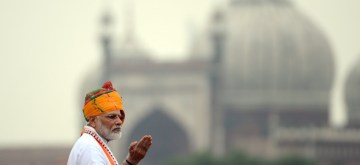 New Delhi: Prime Minister Narendra Modi addresses the nation on the 73rd Independence Day at Red Fort in New Delhi on Aug 15, 2019. (Photo: IANS)