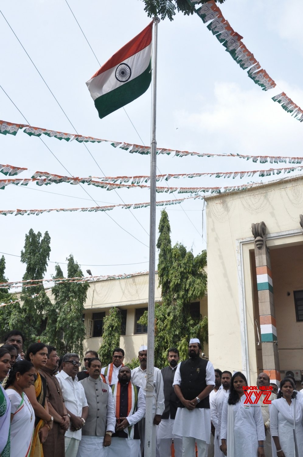 Hyderabad: 73rd Independence Day celebrations at Telangana Congress headquarters #Gallery