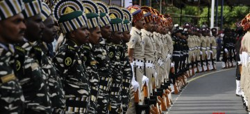 Chennai: Full dress rehearsals for the 73rd Independence Day parade underway, in Chennai on Aug 13, 2019. (Photo: IANS)