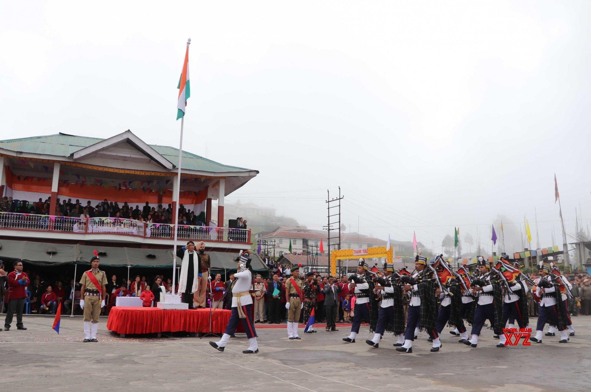 Tawang: MLA Jambey Tashi during 73rd Independence Day celebrations #Gallery