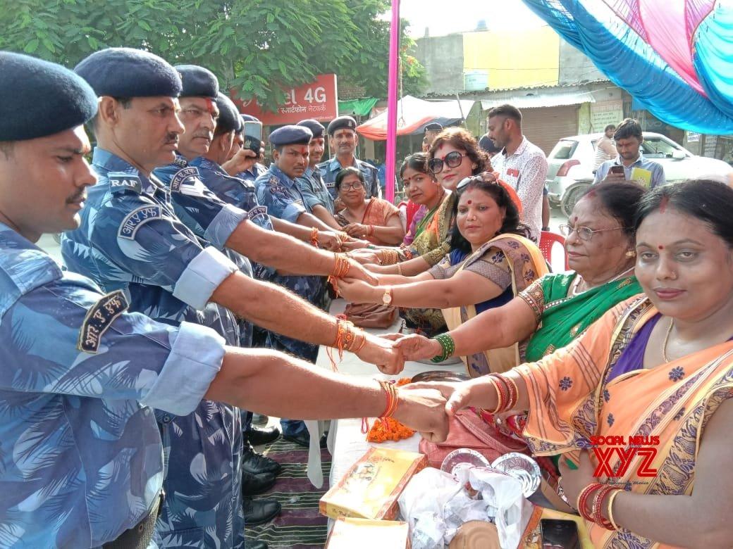 Prayagraj: Women celebrate Raksha Bandhan with RAF personnel #Gallery