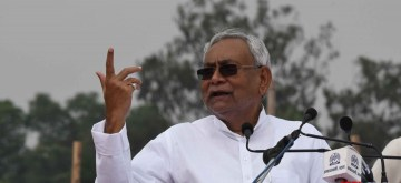 Patna: Biihar Chief Minister Nitish Kumar addresses during Independence Day 2019  celebration in Patna on Aug 15, 2019. (Photo: IANS)