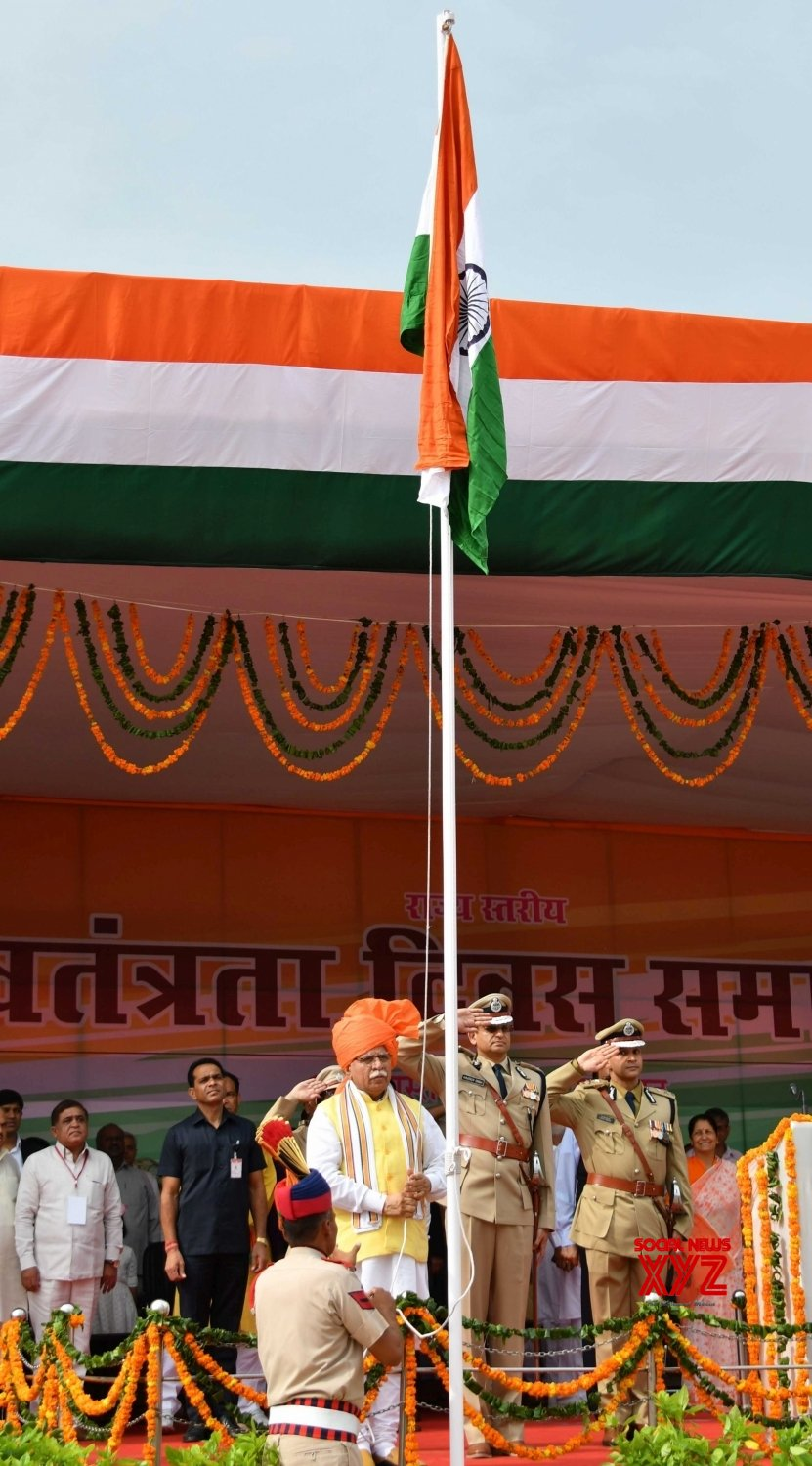 Sonipat: Haryana CM during 73rd Independence Day celebrations #Gallery