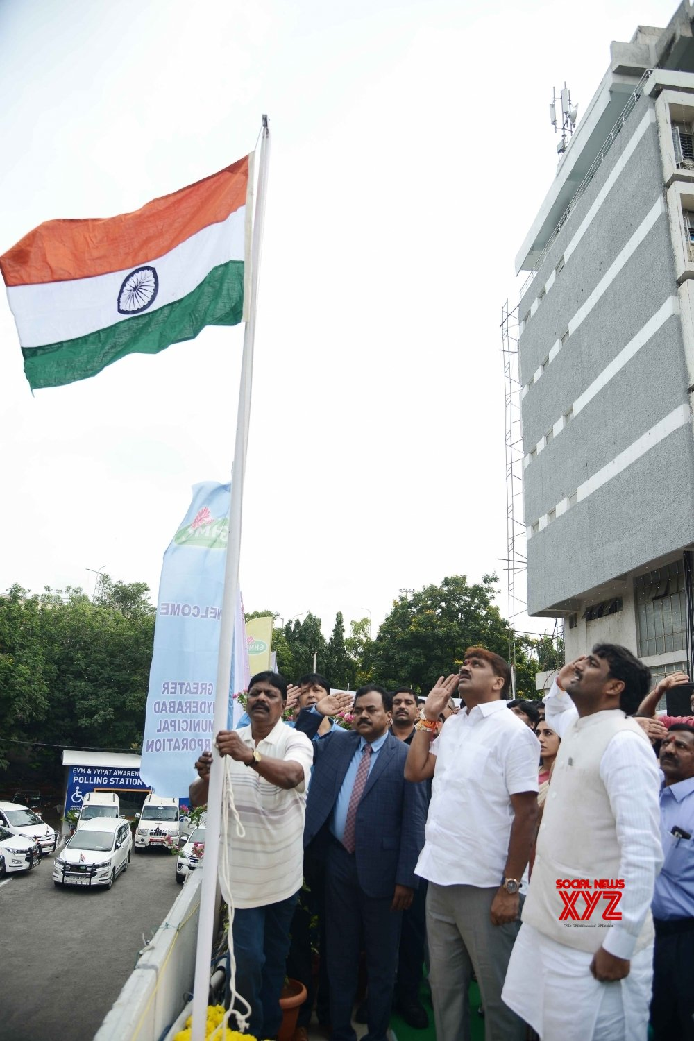 Hyderabad: Hyderabad Mayor during 73rd Independence Day celebrations #Gallery