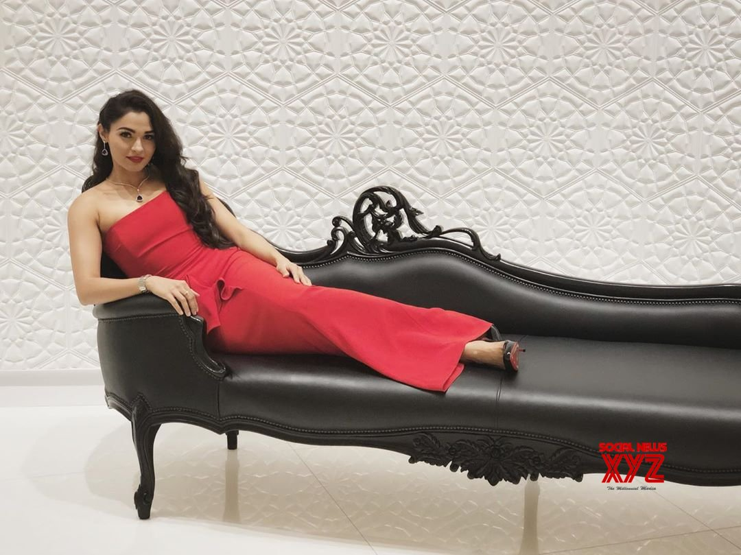 Actress Andrea Jeremiah Gorgeous Stills In Red