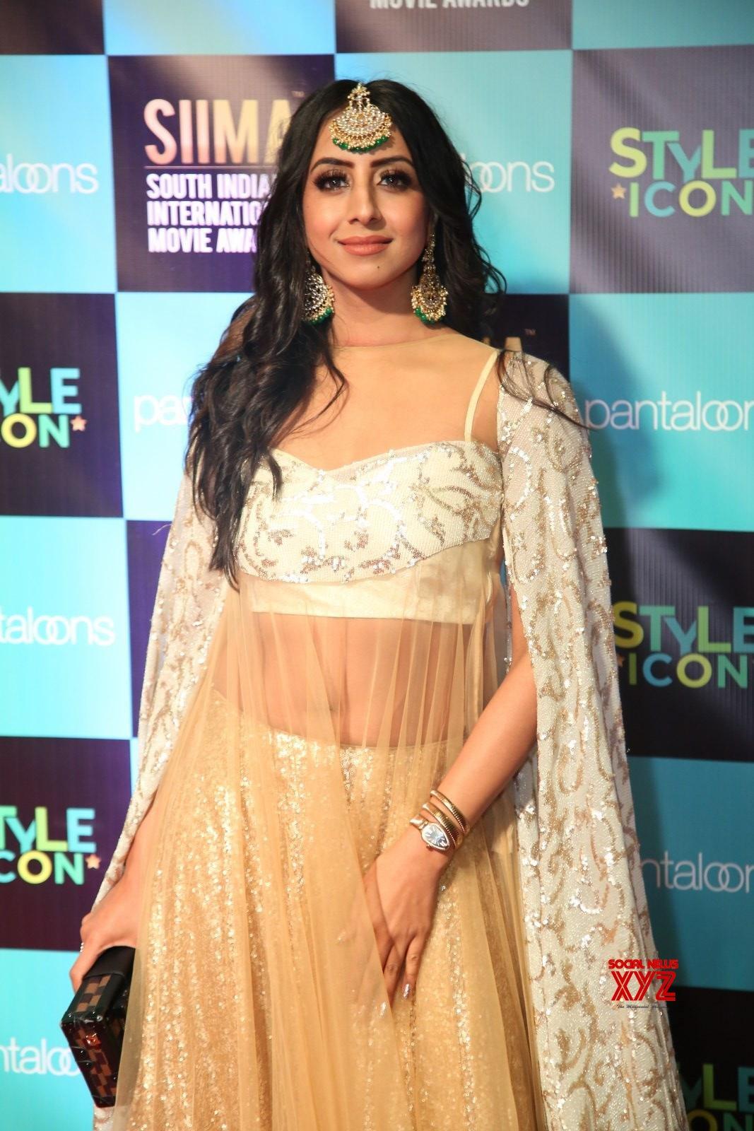 Actress Sanjjanaa Galrani Stills From SIIMA Awards 2019 Red Carpet