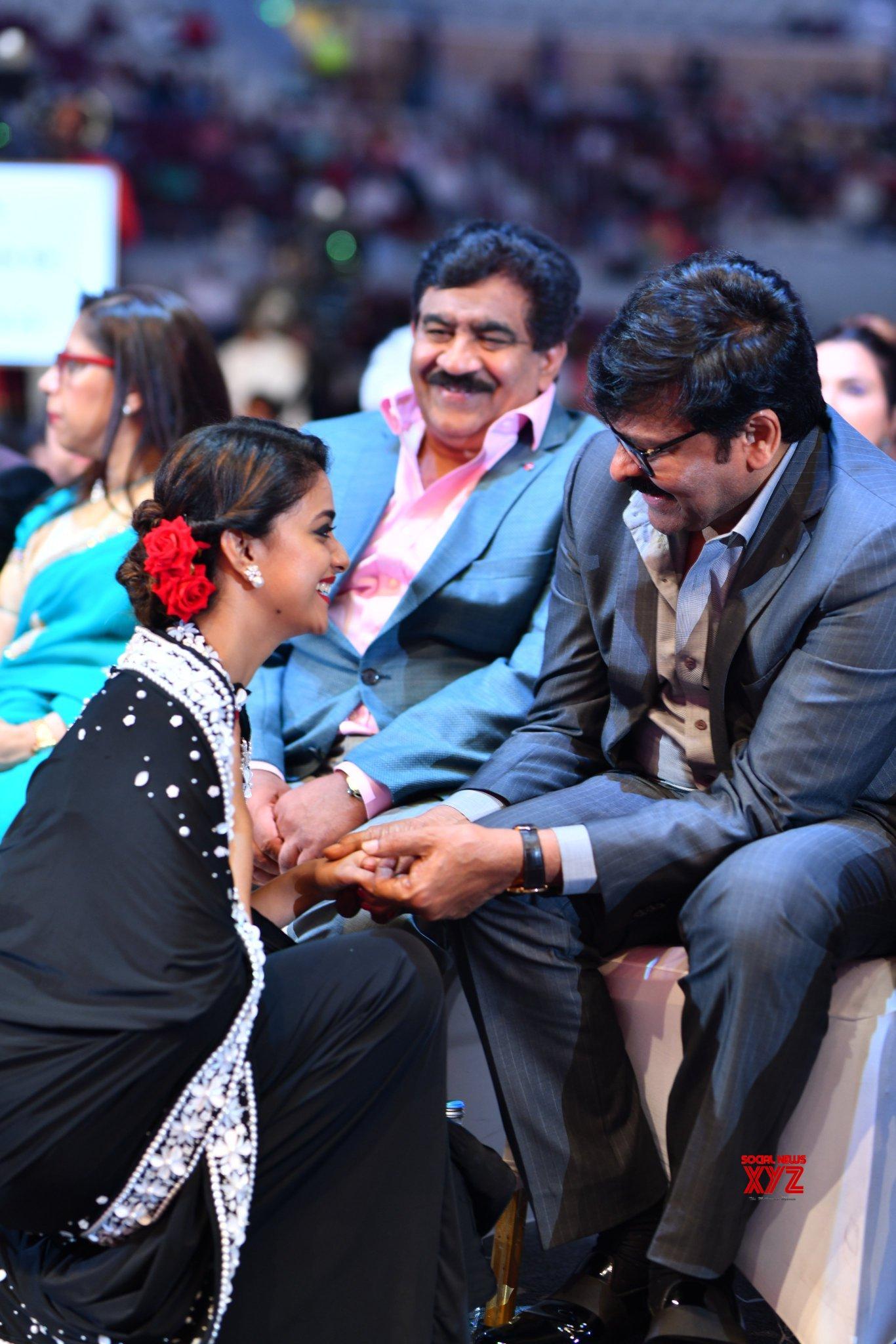 Chiranjeevi And Keerthy Suresh Still From SIIMA Awards 2019