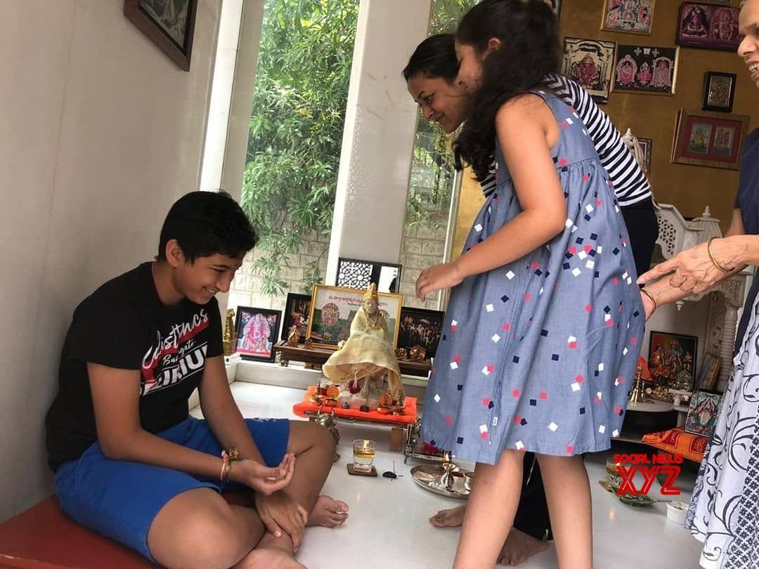 Mahesh Babu Kids Gautham And Sithara's Rakhsha Bandhan Celebration Stills