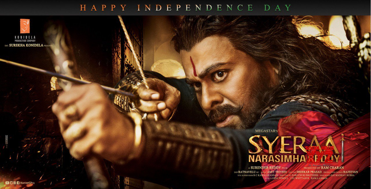 SyeRaa Movie Independence Day Wishes Poster