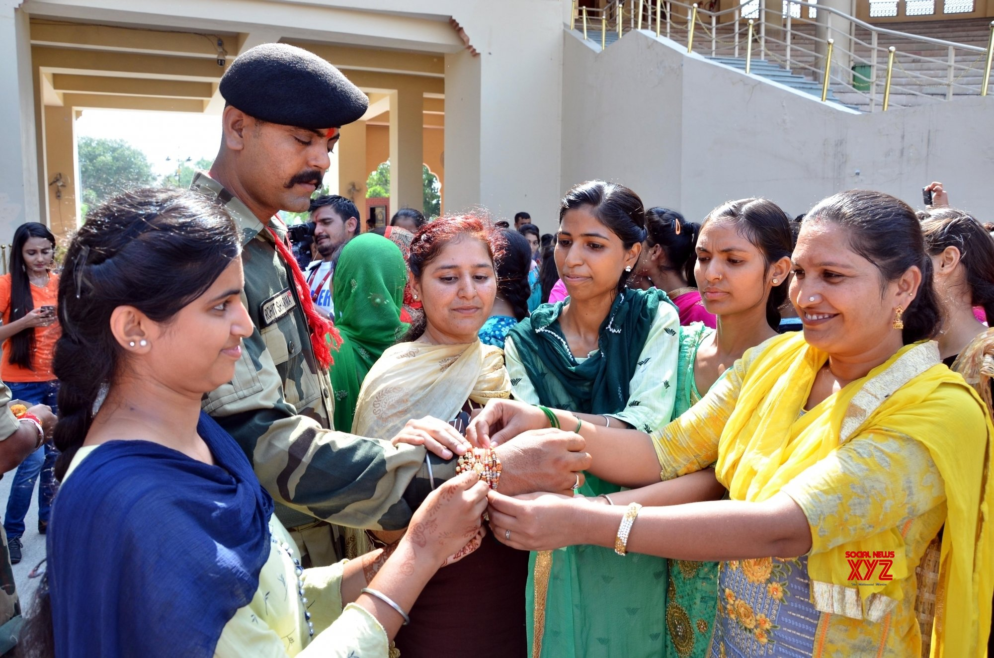Attari (Punjab): Raksha Bandhan celebrations at Attari - Wagah border #Gallery