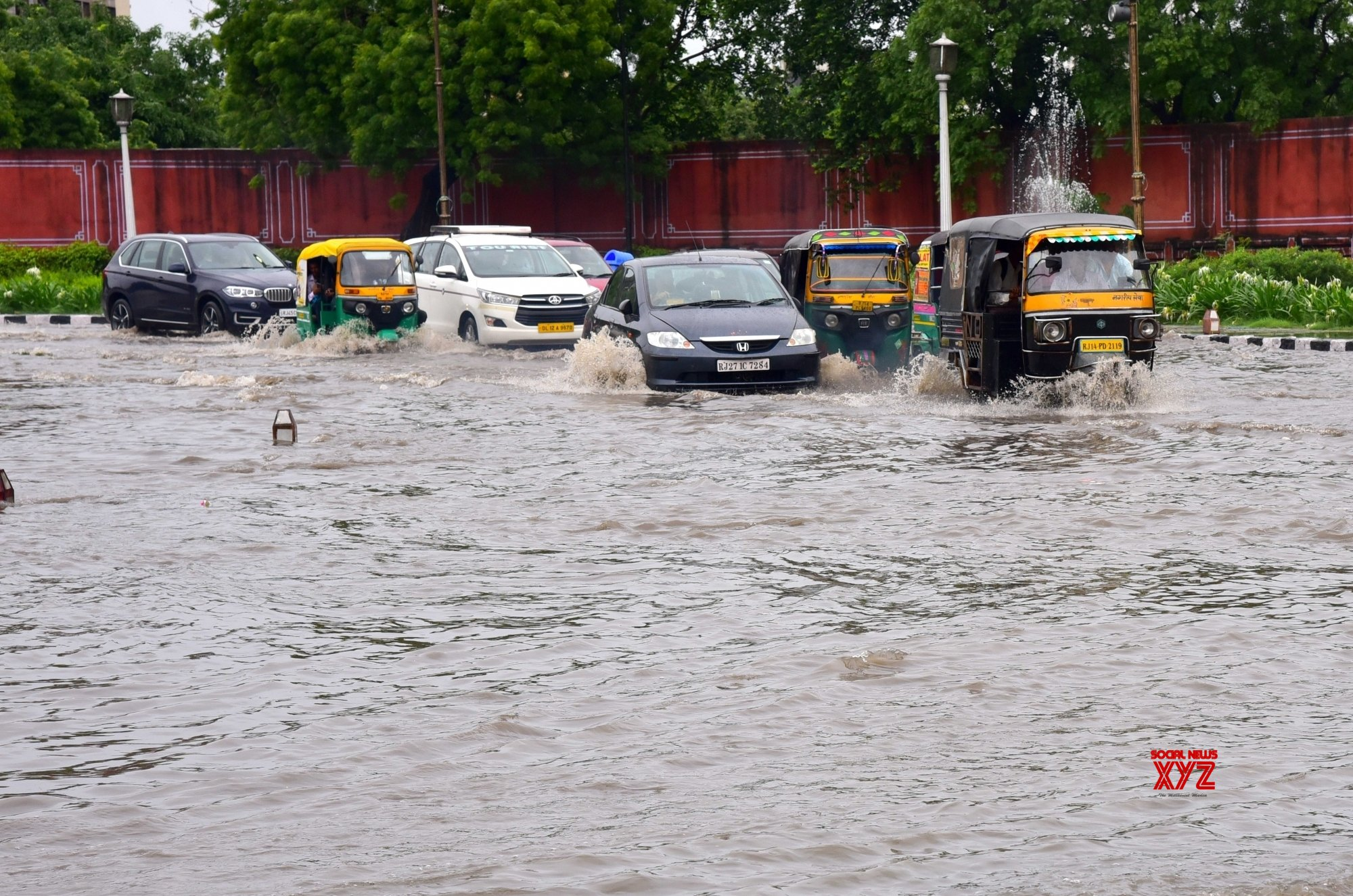 Jaipur: Rains leave city streets water - logged #Gallery