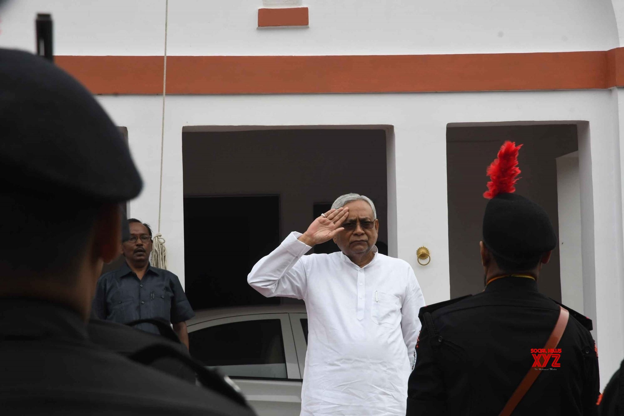 Patna: Nitish Kumar during 73rd Independence Day celebrations in Bihar #Gallery