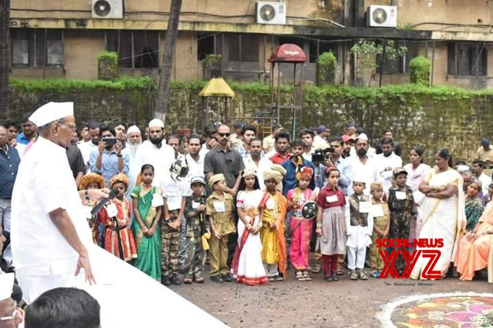 Kolhapur: Sharad Pawar during 73rd Independence Day celebrations #Gallery