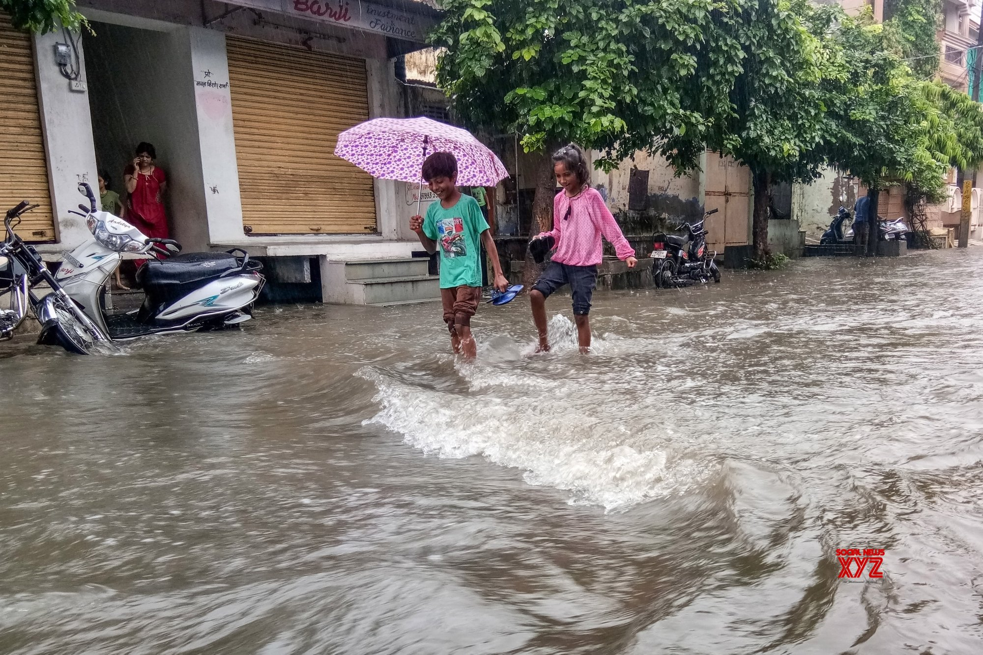 Bhilwara (Rajasthan): Water - logged streets after heavy rains #Gallery