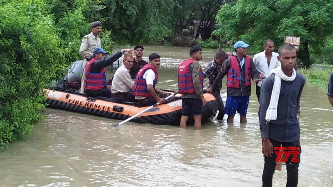 Shivpuri: NRDF conducts rescue operation in Madhya Pradesh's flood hit Shivpuri #Gallery