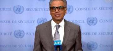 New York: India's permanent representative to the United Nations Syed Akbaruddin addresses a press conference at the UNSC in New York on Aug 16, 2019.