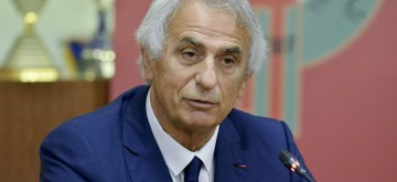 MOROCCO, Aug. 16, 2019 (Xinhua) -- Vahid Halilhodzic, new coach of the moroccan national football team, speaks during a press conference in Rabat, Morocco, Aug. 15, 2019. Moroccan Football Federation on Thursday appointed Vahid Halilhodzic as new coach of the national team. (Xinhua/IANS)