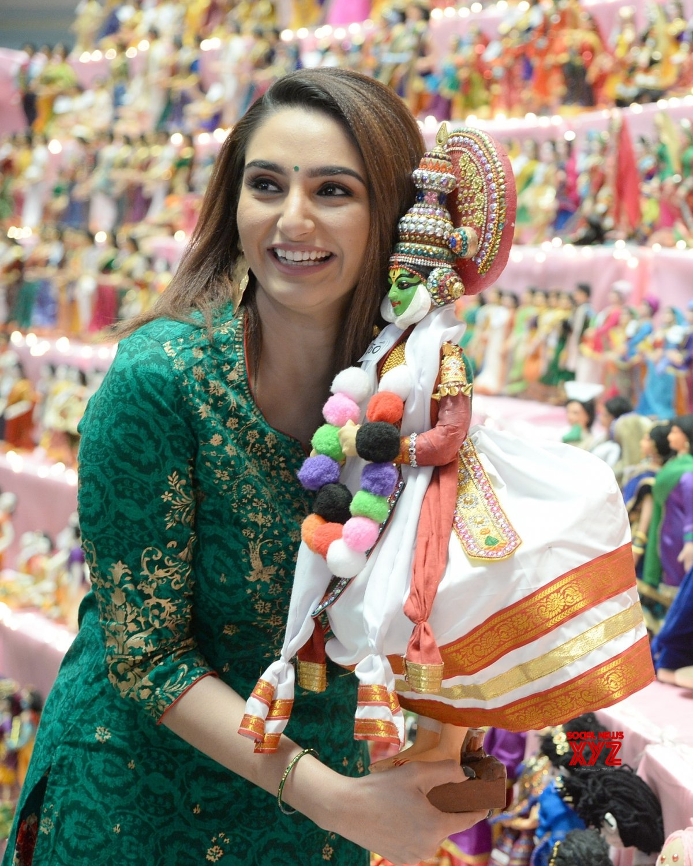 Bengaluru: Ragini Dwivedi at the inauguration of a doll