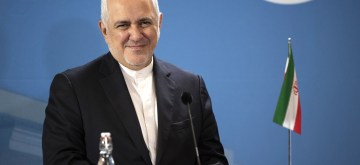 HELSINKI, Aug. 20, 2019 (Xinhua) -- Iranian Foreign Minister Mohammad Javad Zarif speaks to the media in Helsinki, Finland, Aug. 19, 2019. Iranian Foreign Minister Mohammad Javad Zarif on Monday welcomed the end of the seizure of the tanker Grace 1 (renamed Adrian Darya 1) in Gibraltar. Asked to comment on the reports that the ship is going to Greece to offload its cargo, Zarif said Iran cannot be very transparent about the transport of its oil because of the U.S. sanctions. Zarif talked to the media in Helsinki on Monday after talks with Finnish Foreign Minister Pekka Haavisto. (Photo by Matti Matikainen/Xinhua/IANS)