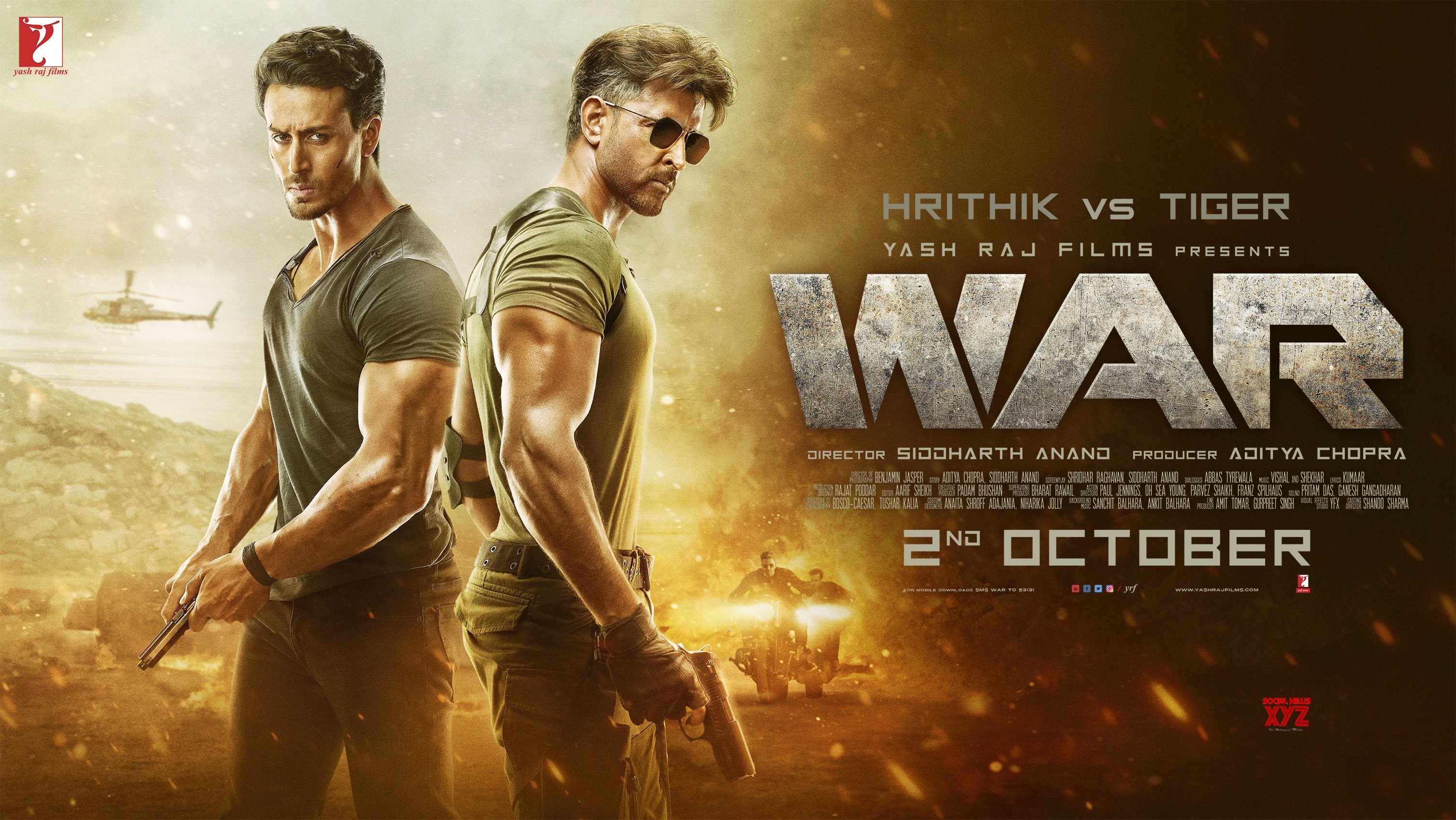 Hrithik Roshan And Tiger Shroff's War Movie Release Date HD