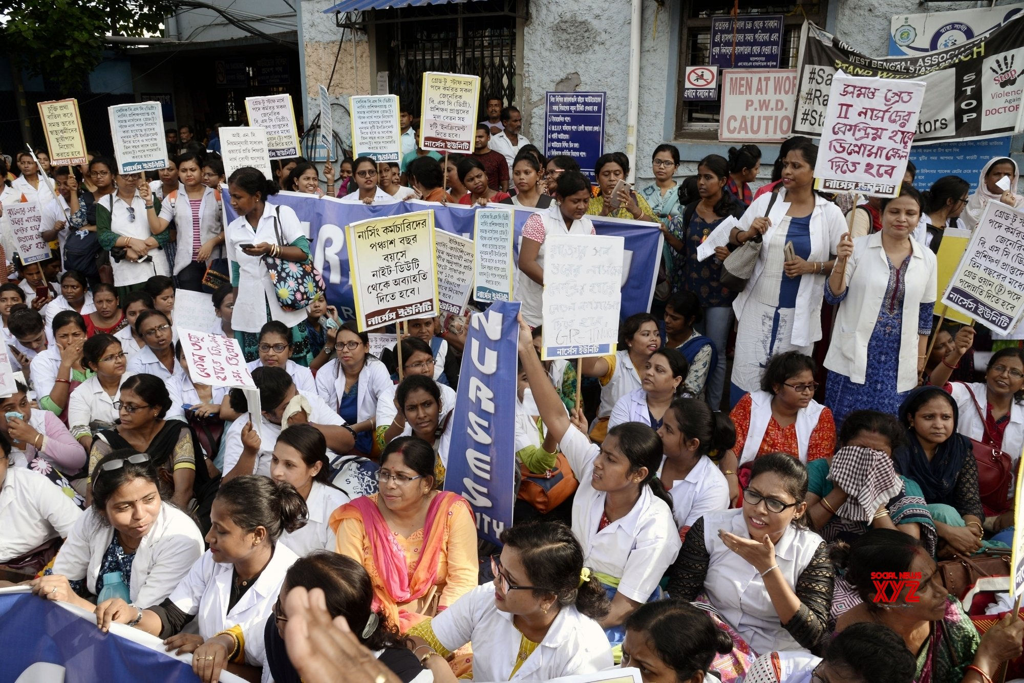 Kolkata: Nurses protest demanding revision in pay scale #Gallery