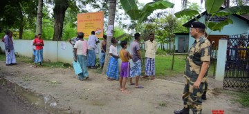 Nagaon (Assam): People wait outside an NRC Seva Kendra (NSK) to check their names in the final list of the National Register of Citizens (NRC) published today, in Assam's Nagaon on Aug 31, 2019. Some 19,06,657 people have been excluded from the final list, which names 3,11,21,004 people as Indian citizens.The citizens' registry was released online around 10 a.m., ending six years of  speculation over the exercise that identifies illegal foreigners living in the Assam. (Photo: IANS)