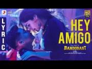 Bandobast - Hey Amigo Lyric   Suriya   Harris Jayaraj   K.V. Anand (Video)