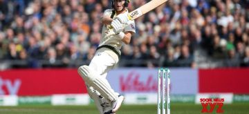 Manchester: Australia's Marnus Labuschagne in action on Day 1 of the 4th Test match between Australia and England at Old Trafford, in Manchester on Sep 4, 2019. (Photo: Twitter/@ICC)
