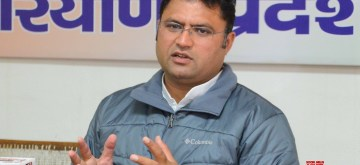 Chandigarh: Haryana Congress President Ashok Tanwar addresses a press conference in Chandigarh on Jan 29, 2019. (Photo: IANS)
