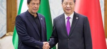 BISHKEK, June 14, 2019 (Xinhua) -- Chinese President Xi Jinping (R) meets with Pakistani Prime Minister Imran Khan in Bishkek, Kyrgyzstan, June 14, 2019. (Xinhua/IANS)